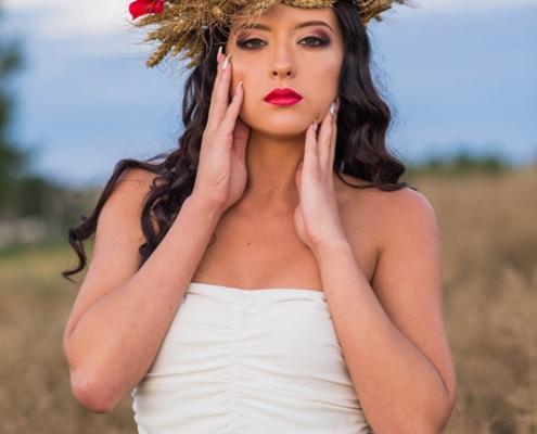 Ostrowiec Świętokrzyski makeup modelka Roksana Oraniec, fot. Daniel Kordos