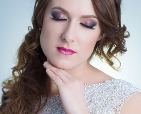 ładne oko w makijażu ślubnym Ostrowiec