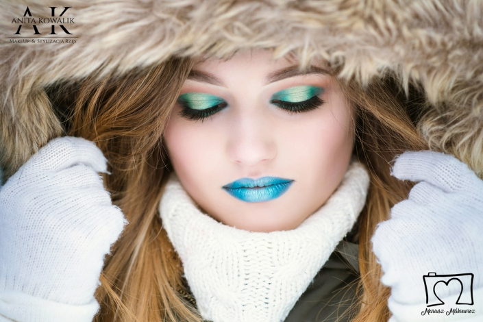 makijaż zimowy - modelka Olga Budzeń, fot. Mariusz Miśkiewicz