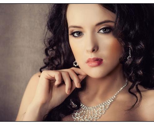 modelka Roksana Oraniec, zdjęcie z sesji makijaz Anita Kowalik