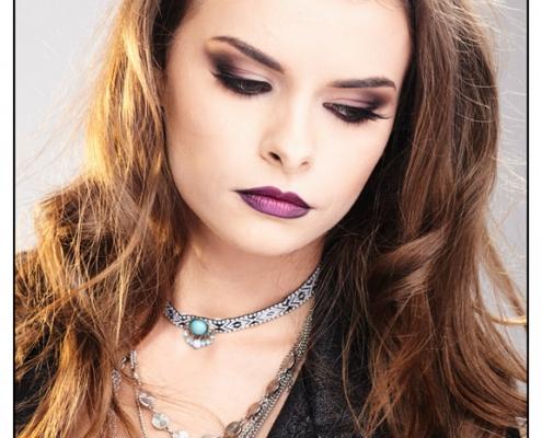 piękny makijaż modelka Agnieszka Kaczmarczyk, fot. Arkadiusz Pękalski