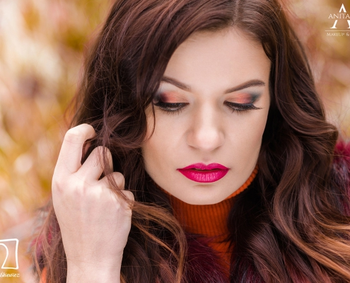 modelka Paulina Skowron, wizażystka Anita Kowalik