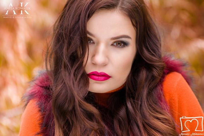 makijaż profesjonalny - modelka Paulina Skowron, fot. Mariusz Miśkiewicz