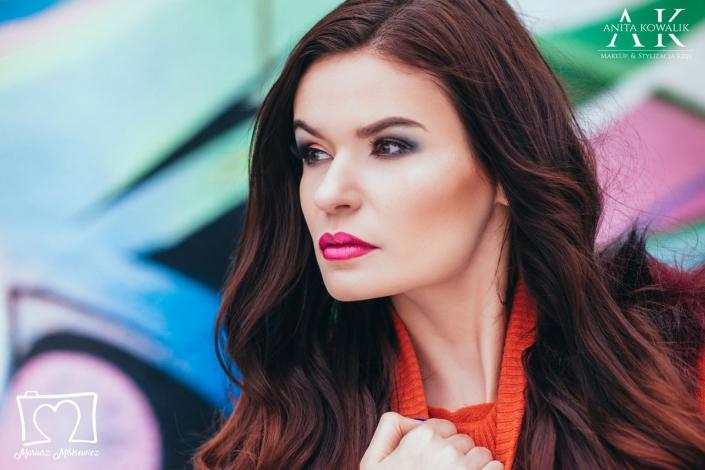 makijaż wieczorowy modelka Paulina Skowron, fot. Mariusz Miśkiewicz