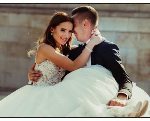 Makijaż ślubny para młoda