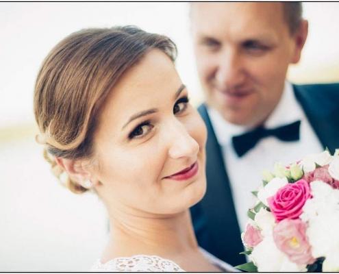 Makijaż ślubny wianek